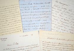 5 lettres d'archevêques de Tours du XIXe.. Augustin Louis de Montblanc (1767-1841) Archevêque de Tours (1824-1841).Joseph Hippolyte Guibert ...
