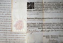 Bel ensemble de lettres d'archevêques de Toulouse.. Florian Jules Félix Desprez (1807-1895) Evêque de Saint-Denis de la Réunion (1850-1857), puis de ...
