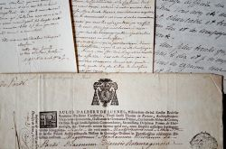 Bel ensemble de lettres d'archevêques de Sens.. Mellon Jolly (1795-1872) Evêque de Sées (1836-1843), puis archevêque de Sens (1843-1867).Victor-Félix ...