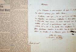 Le futur cardinal d'Astros tente de récupérer les oeuvres d'art de Notre-Dame.. Paul-Thérèse-David d'Astros (1772-1851) Evêque de Saint-Flour ...