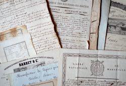 Bel ensemble de documents XVIIIe-XIXe sur Marseille..
