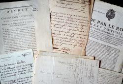 Ensemble de documents XVIIe-XIXe sur la Charente..