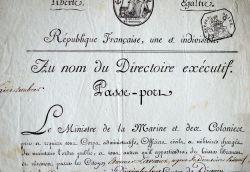 Le général Etienne Laveaux envoyé en Guadeloupe par le Directoire.. Marc Antoine Bourdon de Vatry (1761-1828) Ministre de la Marine et des Colonies au ...