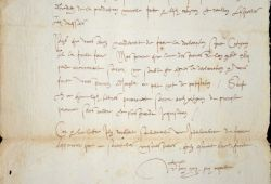 Très rare lettre du grand jurisconsulte nivernais, Guy Coquille.. Guy Coquille (1523-1603) Jurisconsultes nivernais, l'un des plus illustres du XVIe, ...