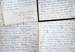 Touchantes lettres du général Caro écrites au moment du siège de Belfort de 1870.. Emmanuel Caro (1835-1898) Général, il fit la campagne du Mexique ...