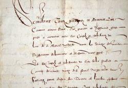 Accord entre les communautés de La Palud et de Saint-Marcel-d'Ardèche, en 1612..