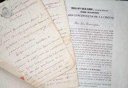 4 documents XVIIIe-XIXe sur la Creuse..