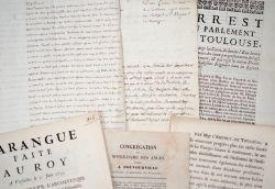 Bel ensemble de documents sur le clergé en Haute-Garonne, XVIIe-XVIIIe..