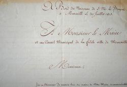 L'amirauté anglaise rend hommage à Marseille après la chute de Napoléon..
