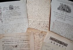 Ensemble de documents XVIIe-XXe sur la Marne..