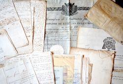 Bel ensemble de documents XVIe-XIXe sur la Nièvre..
