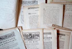 Ensemble de 39 imprimés du XVIIIe sur Lille et la région du Nord..