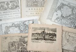 Saint-Omer : 6 gravures, 1 rare opuscule et 2 imprimés, XVIe-XVIIIe..
