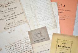 Ensemble de 12 documents XVIe-XXe sur les Pyrénées-Orientales..