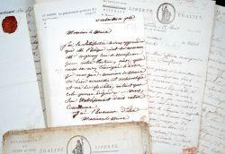 Intéressant ensemble de documents révolutionnaires sur Conflans et Triel..