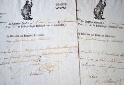 Deux lettres du général Belliard durant la campagne d'Italie.. Auguste Belliard (1769-1832) Général d'Empire, il fit presque toutes les campagnes ...