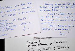 Correspondance amicale de Jean Piat et Françoise Dorin à Philippe Bouvard.. Françoise Dorin (1928-0) Femme de lettres, épouse de Jean Piat.Jean Piat ...