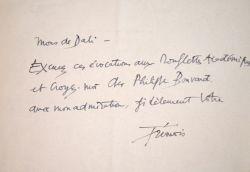 Ironique lettre de Pierre-Yves Trémois sur les académiciens.. Pierre-Yves Trémois (1921-0) Peintre, graveur et sculpteur, membre de l'Académie des ...