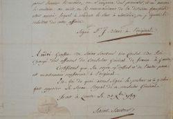 André Grasset de Saint-Sauveur rédige un certificat pour un navire attaqué par un corsaire.. André Grasset de Saint-Sauveur (1724-1794) Secrétaire du ...