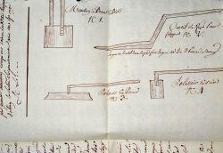 Manuscrit illustré expliquant la fabrication des parquets marbrés à la Vénitienne..