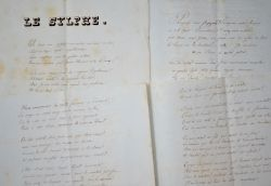 La Grande Chartreuse, manuscrit en vers du milieu du XIXe..