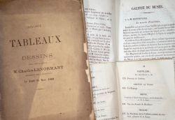 3 catalogues XIXe d'expositions et collections de peintures..