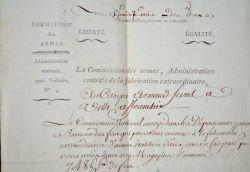La commission des armes fait réquisitionner les magasins d'Auxonne..