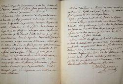 Vergennes approuve la répression d'une sédition.. Charles Vergennes (Gravier, comte de) (1717-1787) Ministre des Affaires étrangères de Louis XVI ...