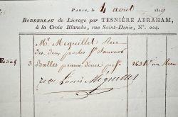 Vente de peaux d'ours en 1819..