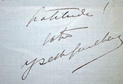 Quelques mots de remerciements d'Yvette Guilbert.. Yvette Guilbert (1868-1944) Chanteuse.