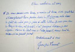 Lettre de Georges Fourest, l'auteur de La Négresse Blonde.. Georges Fourest (1864-1945) Romancier et poète décadent, auteur de La Négresse Blonde.