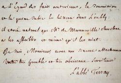 L'abbé Terray impose la soumission aux ordres du Roi.. Joseph-Marie Terray (1715-1778) Homme d'Etat, il fut le dernier contrôleur général des Finances ...