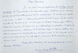 """Pierre-Georges Castex fait l'éloge du """"Corps de mon ennemi"""" de Marceau.. Pierre-Georges Castex (1915-1995) Universitaire, membre de l'Institut (ASMP)."""