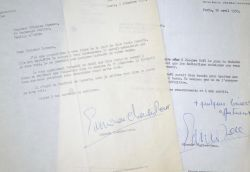 """Edmond Charles-Roux attend une proposition de Gian Carlo Menotti.. Edmonde Charles-Roux (1920-2016) Ecrivaine, prix Goncourt (en 1966 pour """"Oublier ..."""