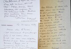 """Lettres amicales de Marcel Haedrich à Félicien Marceau.. Marcel Haedrich (1913-2003) Journaliste vedette de la """"grande presse"""", chroniqueur radio, ..."""