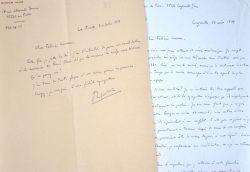 Roger Ikor candidate pour entrer à l'Académie Française auprès de Félicien Marceau.. Roger Ikor (1912-1986) Ecrivain, lauréat du prix Goncourt (1955).