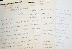 Lettres amicales de Christian Melchior-Bonnet à Félicien Marceau.. Christian Melchior-Bonnet (1904-1995) Historien. Homme de lettres. ...