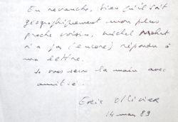 Éric Ollivier tracte pour entrer à l'Académie Française.. Yves Duparc (1927-2015) Écrivain, prix Interallié (1982).