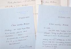 Touchantes lettres de Pierre Dux à Hélène Midoux.. Pierre Dux (1908-1990) Acteur et metteur en scène français. Sociétaire de la Comédie-Française de ...