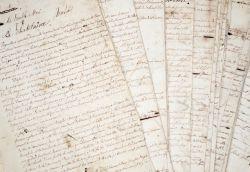 Manuscrit complet du conte fantastique d'Élisa Mercoeur, Le Double Moi.. Élisa Mercur (1809-1835) Poétesse romantique, louée par Hugo, Lamartine, ...