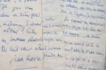 Belle correspondance de 5 lettres de Jean Cassou à son éditeur.. Jean Cassou (1897-1986) Ecrivain, poète et résistant, compagnon de la Libération, il ...