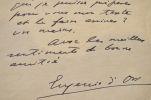 L'écrivain catalan Eugenio d'Ors s'inquiète de ne pouvoir terminer son travail.. Eugenio d'Ors (1881-1954) Ecrivain et philosophe catalan. De son vrai ...