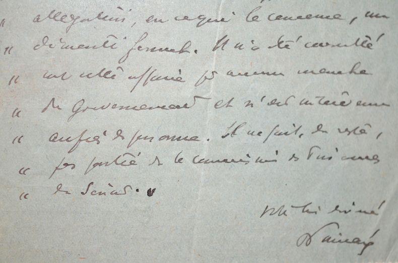 Raymond Poincaré dément toute intervention sur la Banque Industrielle de Chine.. Raymond Poincar? (1860-1934) Président de la République.