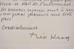 """Lettre du fondateur du """"tactilisme"""", le peintre luxembourgeois Théo Kerg.. Théo Kerg (1909-1993) Peintre et sculpteur luxembourgeois d'art moderne, ..."""