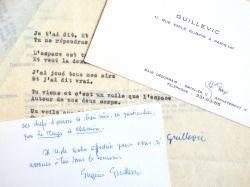 Un poème et une lettre d'Eugène Guillevic.. Eugène Guillevic (1907-1997) Poète.