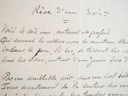 Poème autographe d'Ernest Gaubert pour la revue La Plume.. Ernest Gaubert (1881-1945) Poète et romancier languedocien.