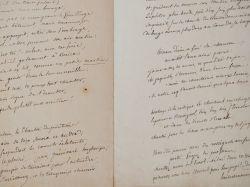 Manuscrits d'une fable et d'un poème d'Emile Deschamps.. Emile Deschamps (1791-1871) Poète, l'un des plus fervents représentants du mouvement ...