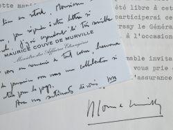 Couve de Murville renonce à assister à l'hommage à Miguel Angel Asturias.. Maurice Couve de Murville (1907-0) Ministre des Affaires étrangères et ...