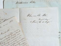 Alpes de Haute Provence. Archives de l'abbé Chaffrey Martin avec 12 lettres de l'évêque de Gap..
