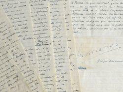 Important manuscrit de Bernanos sur l'opinion catholique.. Georges Bernanos (1888-1948) Ecrivain.